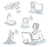 Wireless and communication Royalty Free Stock Image