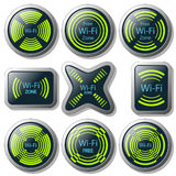 Wireless communication button Royalty Free Stock Photos