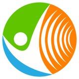 Wireless communication logo Royalty Free Stock Photos