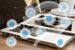 Wireless communication network Stock Photos