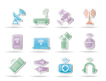 Wireless and communication technology objects Royalty Free Stock Photos