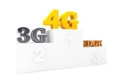Wireless Communication Technology over Winners Podium. On a white background stock photos