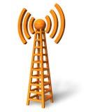 Wireless communication tower Royalty Free Stock Image