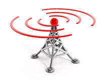 Wireless communication tower Stock Photo