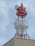 Wireless communication tower Royalty Free Stock Images