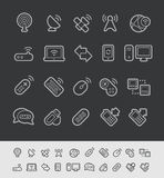 Wireless Communications Icons // Black Line series Stock Image