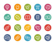 Wireless Communications Icons -- Printemps Series Stock Images