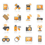 Wireless and communications icons Royalty Free Stock Image