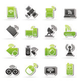 Wireless and communications icons Royalty Free Stock Images