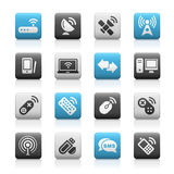 Wireless & Communications // Matte Icons Series Royalty Free Stock Photo