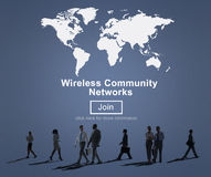 Wireless Community Network Connection Communication Concept Stock Photo