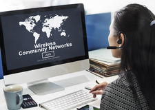 Wireless Community Networks Connection Globalization Technology Royalty Free Stock Photography