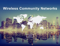 Wireless Community Networks Technology Hotspot Concept Stock Photography