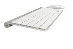 Wireless computer keyboard with the English alphabet and mouse Stock Photography