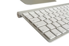 Wireless computer keyboard with the English alphabet and mouse Stock Image
