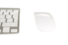 Wireless computer keyboard with the English alphabet and mouse Stock Images