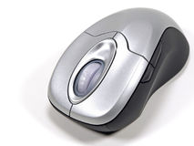 Wireless Computer Mouse. An isolated optical wireless computer mouse for a notebook or laptop or pc Stock Photo