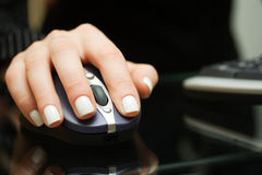 Wireless computer mouse. Stock Image