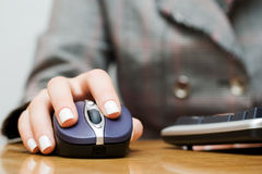 Wireless computer mouse. Royalty Free Stock Photos