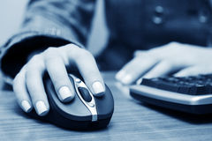 Wireless computer mouse. Royalty Free Stock Images