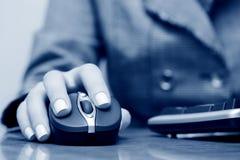 Wireless computer mouse. Stock Photos