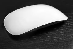 Wireless computer mouse. On black background Stock Photo
