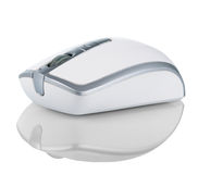 Wireless computer mouse  on white background Royalty Free Stock Photos