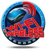 Wireless concept icon Stock Image
