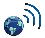 Wireless connection royalty free illustration