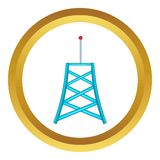 Wireless connection tower vector icon Royalty Free Stock Photos