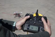 Wireless Controller to handle a drone Stock Photography