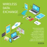 Wireless Data Exchange Equipment for Connection Stock Image