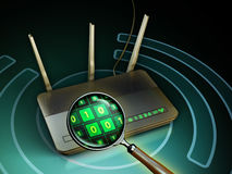 Wireless data inspection Stock Image
