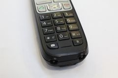 Wireless dect phone numbers for office. Wireless dect phone for office close up stock image