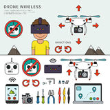 Wireless drone devices Stock Images