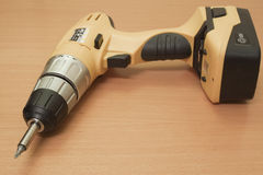 Wireless electric drill Stock Photo