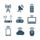 Wireless equipment icons Royalty Free Stock Photography