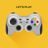 Wireless  gamepad. Wireless grey gamepad with long shadow Stock Photography