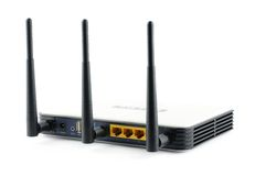 Wireless gigabit broadband router Royalty Free Stock Photo