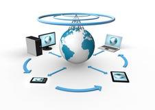 Wireless global network visualization Stock Photography