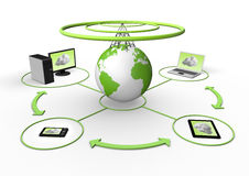 Free Wireless Global Network Visualization Stock Photography - 20239702