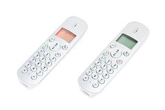 Wireless Handset Phone. Rechargeable Wireless Telephone for landline phone stock images