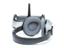 Wireless headphones. Wireless headphones isolated on the white background Stock Photo