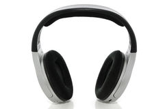 Wireless headphones on white with clipping path Royalty Free Stock Photo