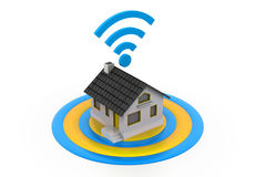 Wireless Home connection Royalty Free Stock Images