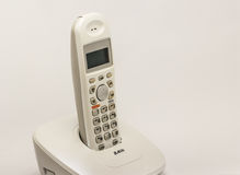 Wireless  home phone. Isolate on white background Royalty Free Stock Image