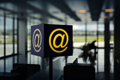 Wireless Hot Spot (internet) in airport Royalty Free Stock Photography
