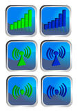 Wireless icon set Stock Photos