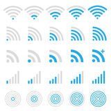 Wireless icon set Royalty Free Stock Photography