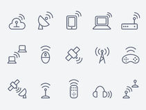 Wireless icon set. Set of 15 wireless tools vector illustration